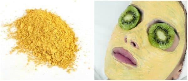желтая глина против прыщей