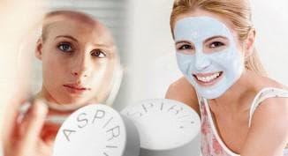 маска из меда и аспирина для лица