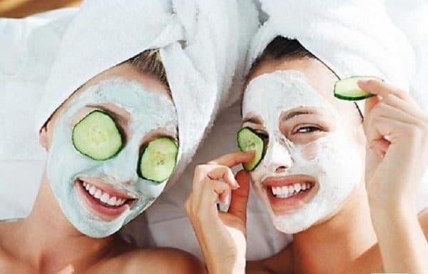 огуречная маска для лица со сливками