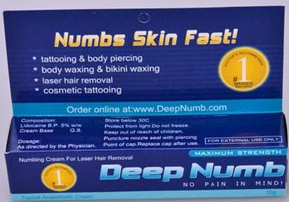 обезболивающие для эпиляции от Deep Numb