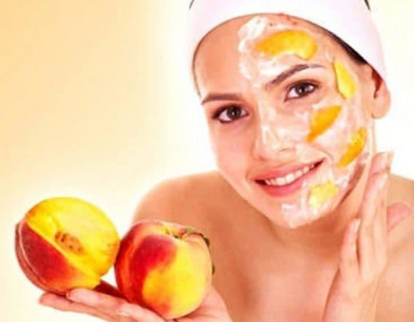маска для лица из крахмала с маслом персика