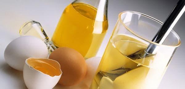 растительное масло и яйцо для волос