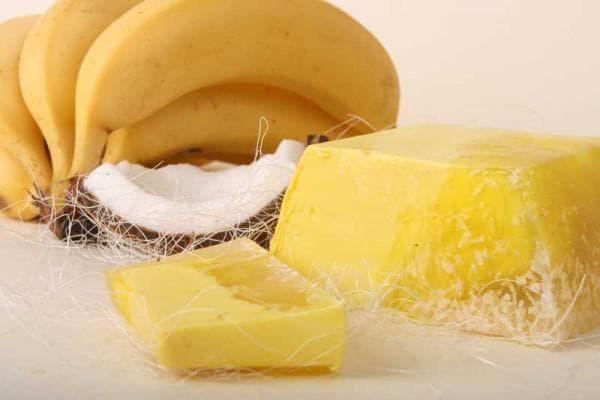 кокоса и банан для волос