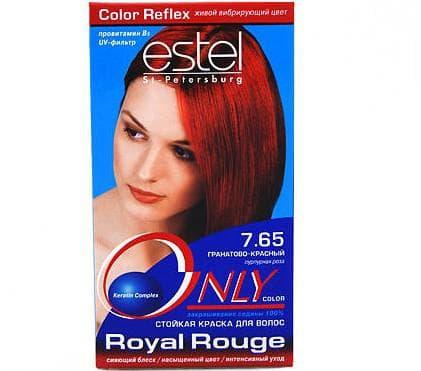 рыжие оттенки краски для волос Estel