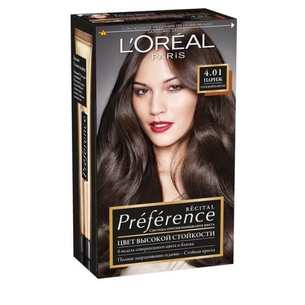 l'OREAL PREFERENCEХ Для каштановых волос