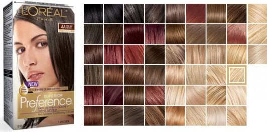краска для волос лореаль амбре вариации палитры № 1