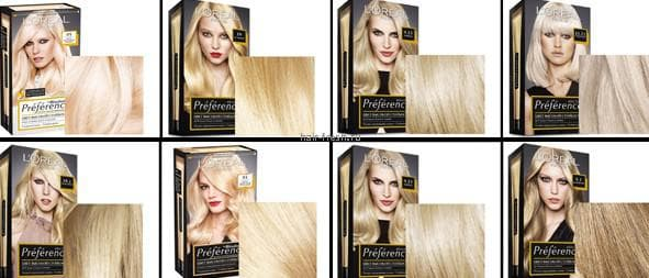 краска для волос лореаль амбре гамма палитры № 2