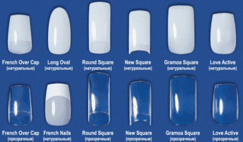 типсы для наращивания ногтевых пластин гелем