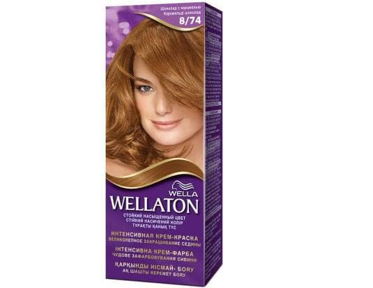 краска для волос шоколадные оттенки Wellaton