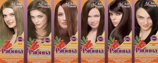краска для волос шоколадные оттенки Рябина