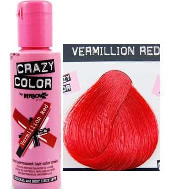 crazy color краска для волос Vermillion Red