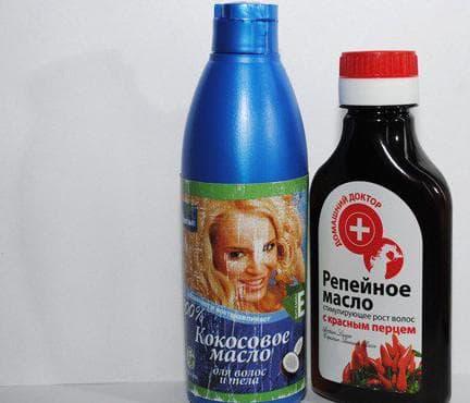 масло кокоса и репейное масло