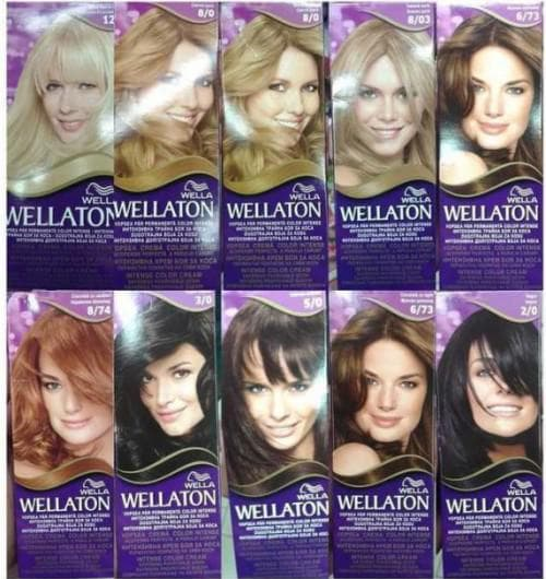 краска для волос веллатон