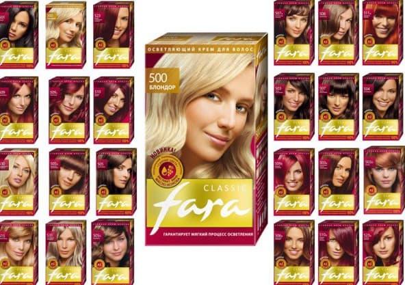 не профессиональная краска для волос Фара