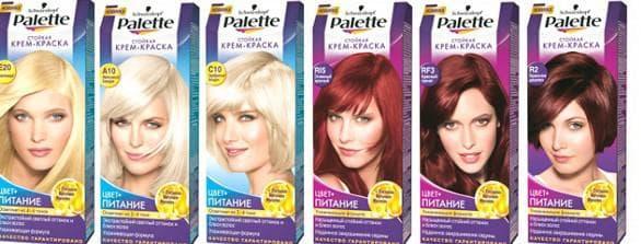 краска для волос Паллет