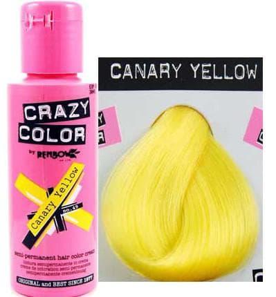 crazy color краска для волос Canary Yellow