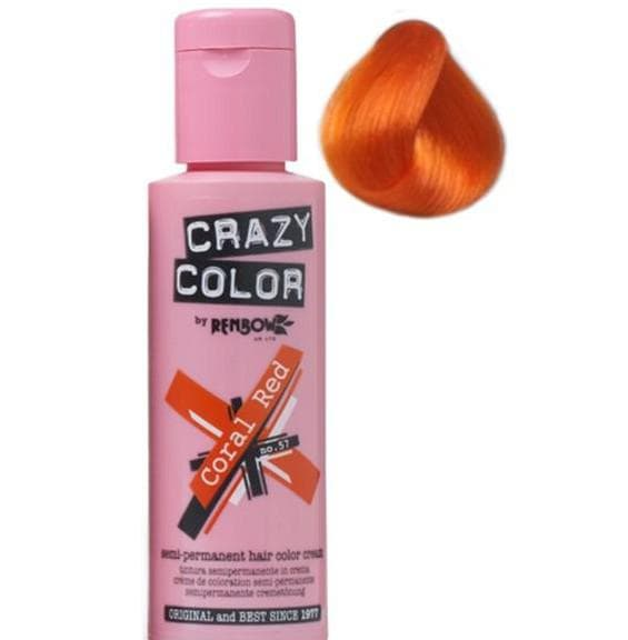 crazy color краска для волос Coral Red