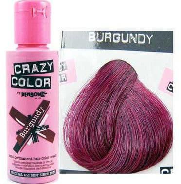 crazy color краска для волос Burgundy