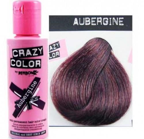 crazy color краска для волос Aubergine