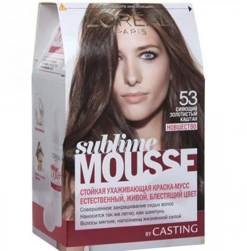 крем-краска L'OREAL Sublime Mousse, оттенок 53