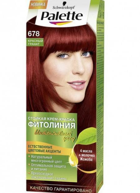 рыжие оттенки краски для волос Palette