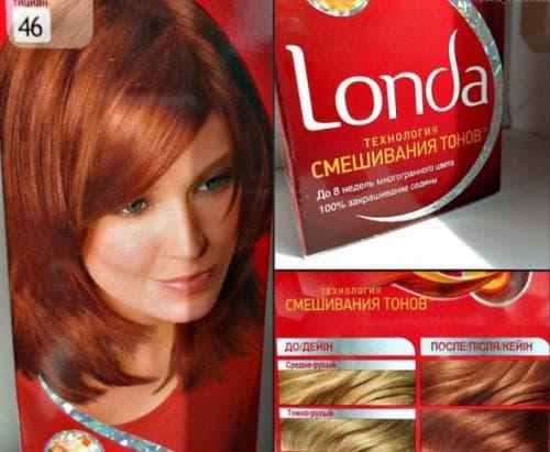 рыжие оттенки краски для волос Londa