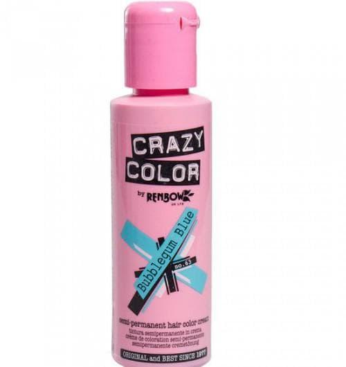 crazy color краска для волос Bubblegum Blue