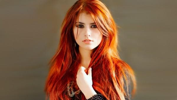 рыже медные волосы