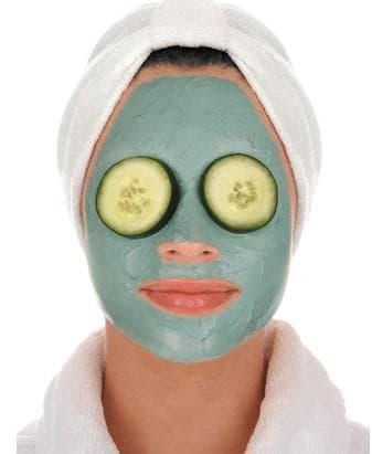 огуречная маска для лица с голубой глиной