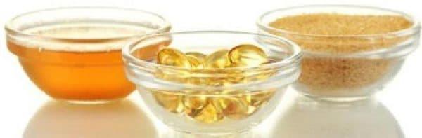 маска из меда и желатином