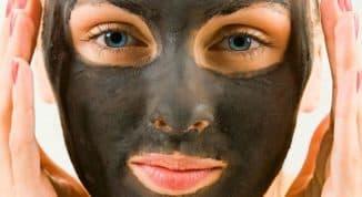 желатиновая маска от угрей с углем