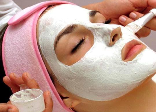 маска из белой глины