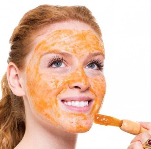 морковная маска для лица с мёдом