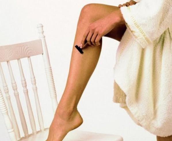 бритьё ног беременной
