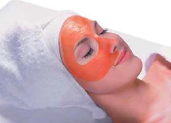 морковная маска с мукой