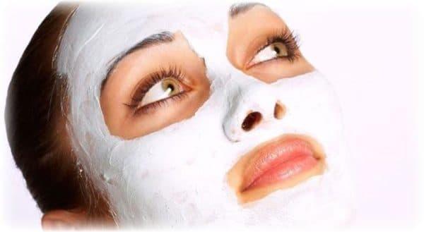 отбеливающая маска для лица кремовая со сметаной