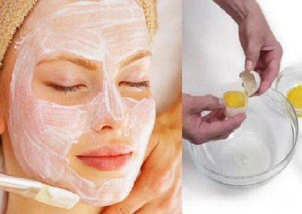 отбеливающая маска для лица с желтком и молоком