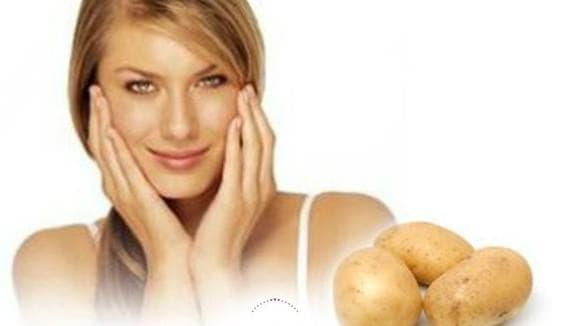 отбеливающая маска для лица с картофеля