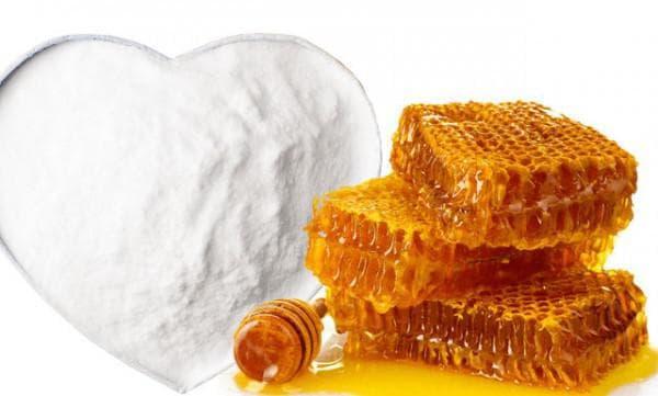 маска из меда и содой для лица от прыщей