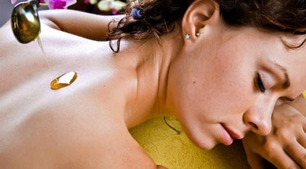 медовый массаж шеи