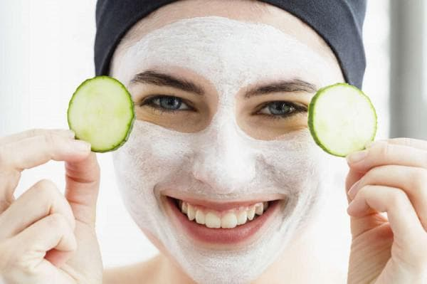 кефирная маска для лица согурцом