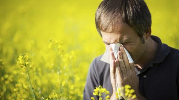 Аллергическая реакция мужчины