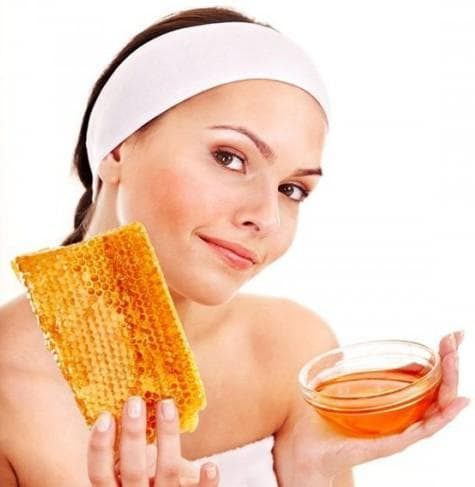 питательная маска для лица из мёда