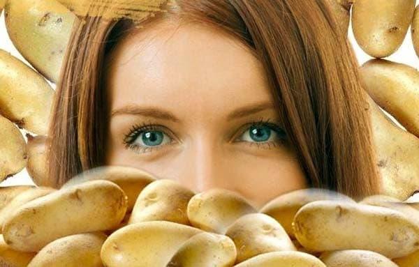 питательная маска для лица с  картофельным крахмалом