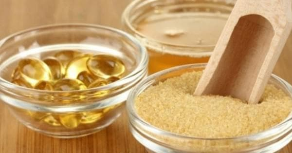 витамин А и Е и желатин для маски лица