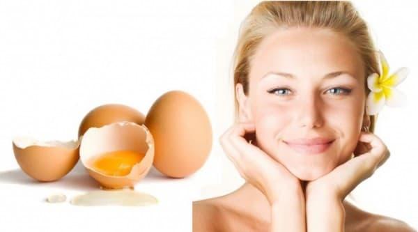 маска на основе яичного белка