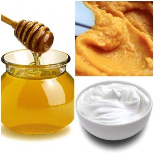 маска из меда и сметаны