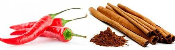 какао и молотый перец для обертывания