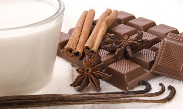 кипячёное молоко и шоколад для обертывания