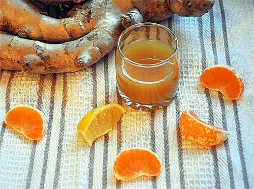 апельсиновый сок и имбирь для маски лица